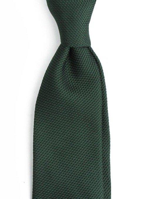 zielony KRAWAT z grenadyny (garza fina)