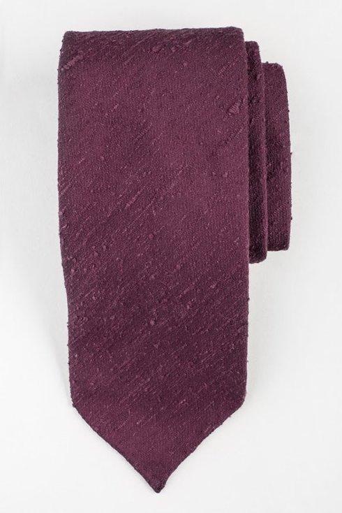 Beaujolais krawat z szantungu bez podszewki