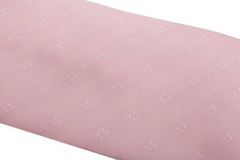 KRAWAT z jedwabiu żakardowego różowy