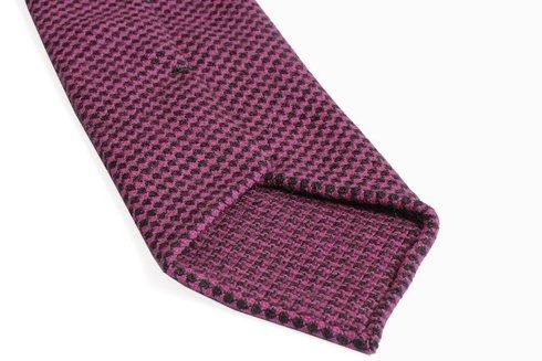 Krawat wełniany BEZ PODSZEWKI w pepitę