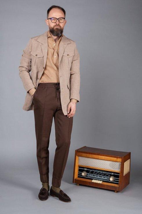 Preorder: Joggery bawełniane brązowe