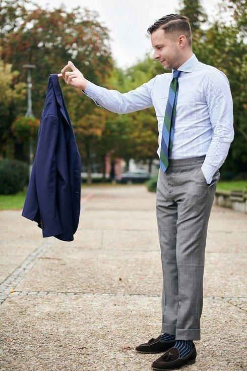 Spodnie szare całoroczne