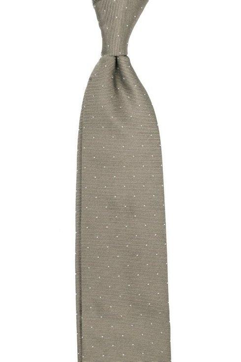 Stare złoto krawat z jedwabiu żakardowego polka dots