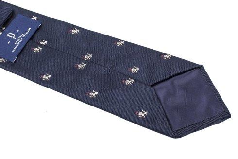 jedwabny granatowy krawat