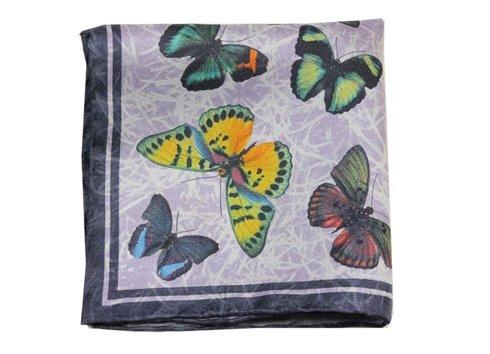 poszetka jedwabna motyle