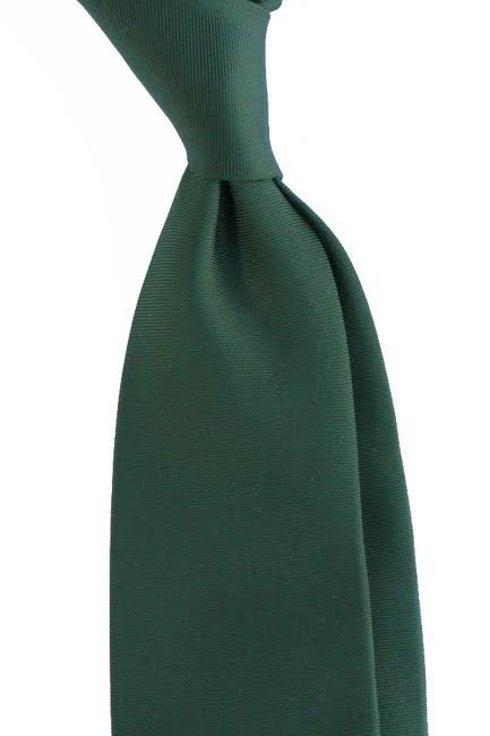zielony WEŁNIANY Krawat BEZ PODSZEWKI